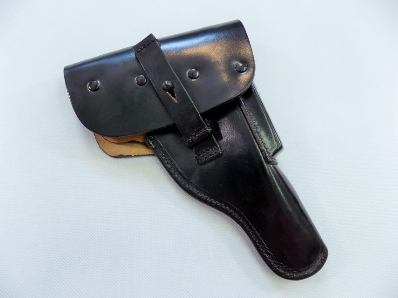 Genuine Post WW2 BW German Army P1 P-38 Walther Leather Holster