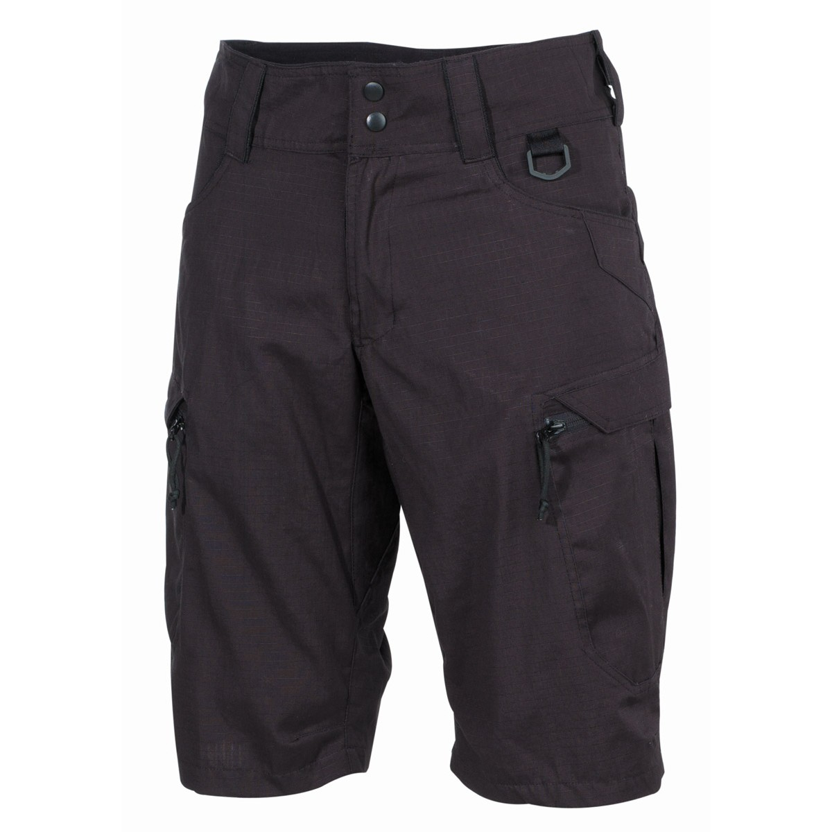 "Professional Tactical Military Battle Army Shorts ""Defense"" Rip Stop - Black"