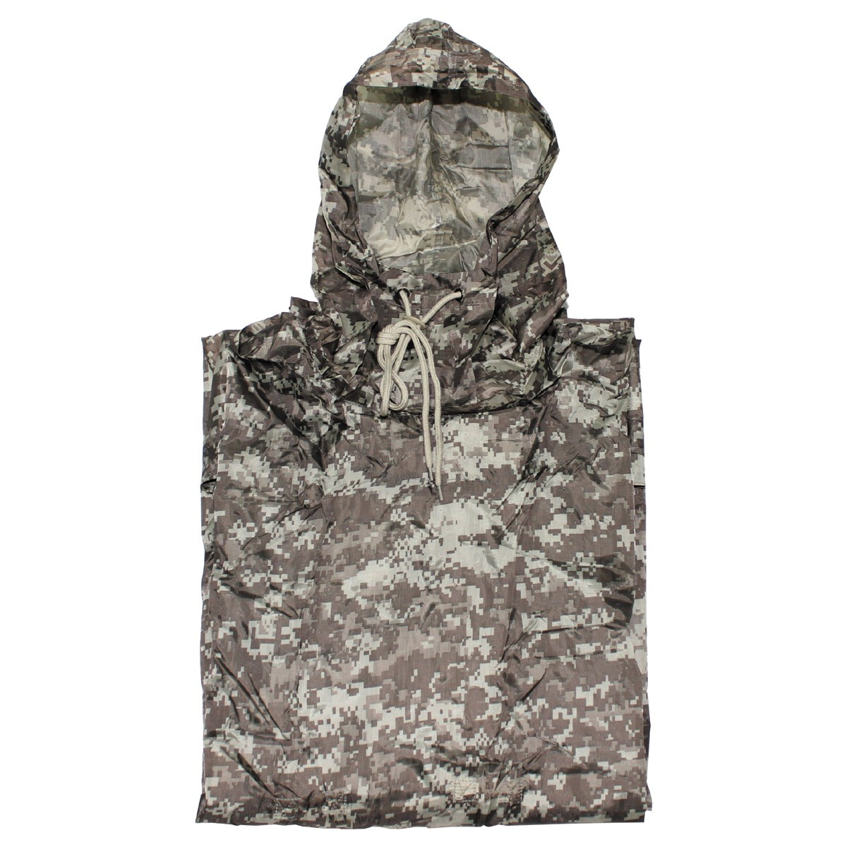 US Army Waterproof RipStop Hooded Rain Military Poncho - AT Digital