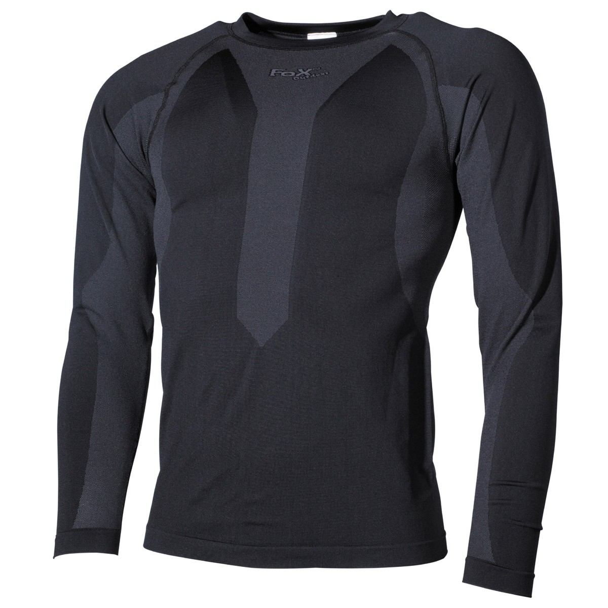 Functional Outdoor Thermo Long Sleeve Undershirt - Black
