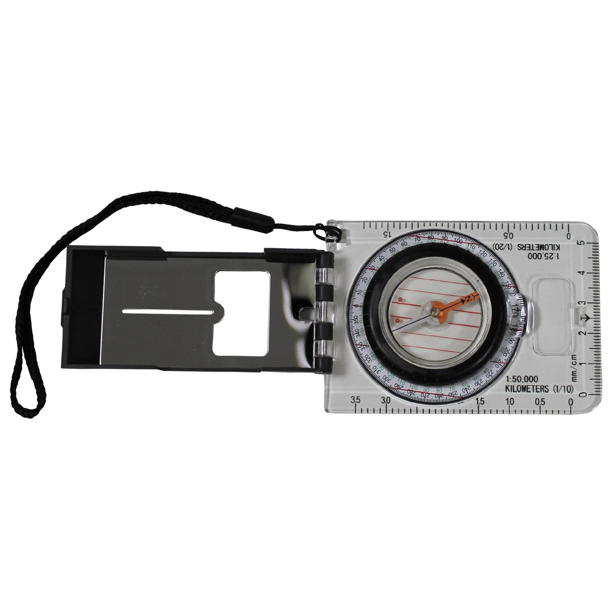 Professional Map Compass Magnifier Measuring Device