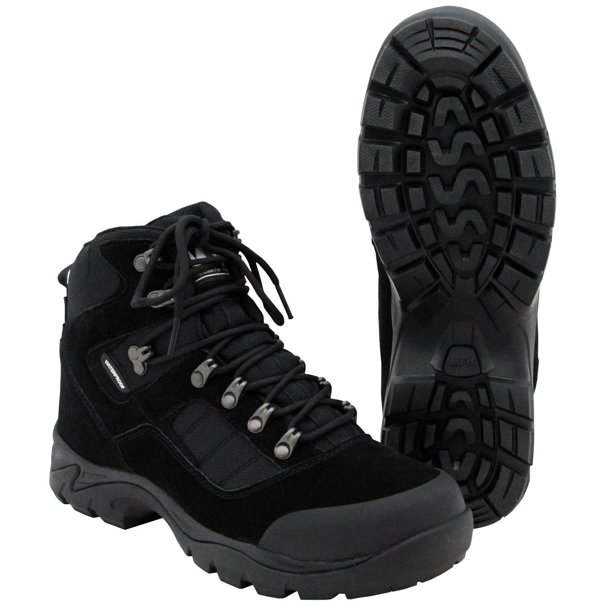 Tactical Police Security Combat Boots w/ HBR Membrane - Black