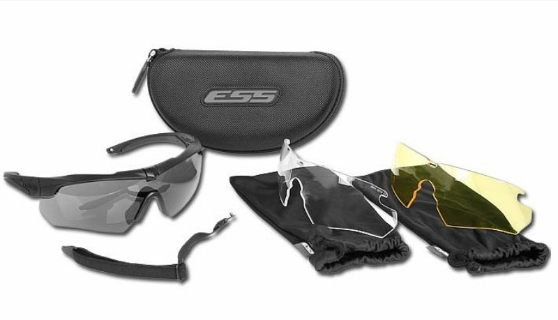 ESS® Crossbow 3LS Ballistic Safety Eyeshield Military Glasses 3 Lens Set - USA