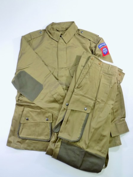 WW2 US Army M42 Paratrooper Reinforced Suit - 82th Airborne Division - Repro