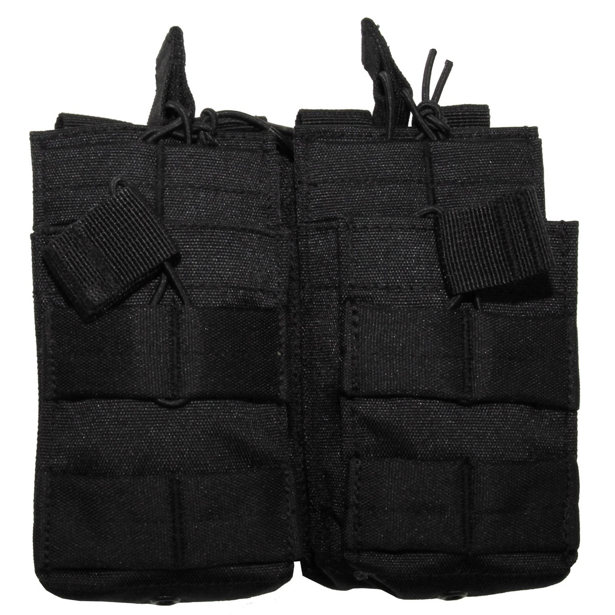 Modular Molle Magazine Open Double Pouch - Black