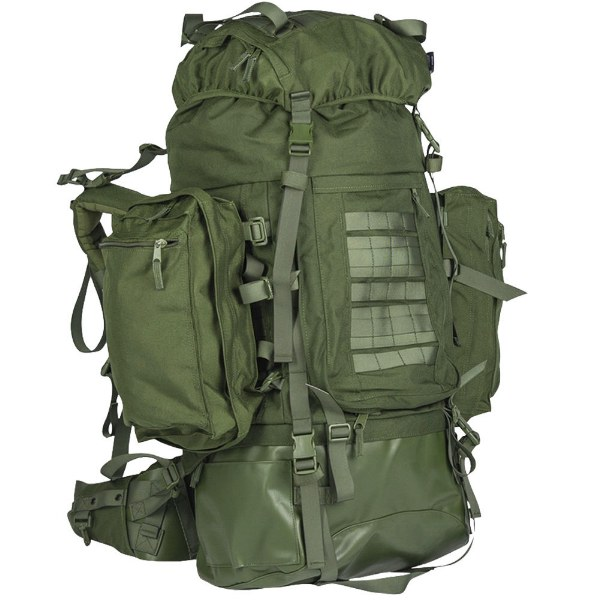 TEESAR® Outdoor Military Tactical Expedition 100L Large Backpack Rucksack Olive