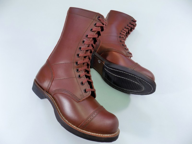 WW2 US Army Paratrooper Jump Boots 100% Leather TOP Repro