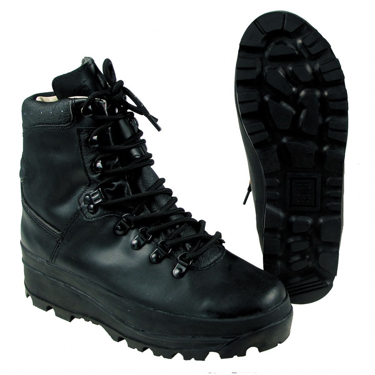 BW German Army Mountain Durable Waterproof Boots Breathtex Lining - Black