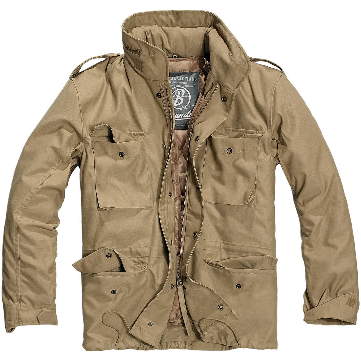 Brandit® US Army M-1965 M65 Classic Military Vintage Field Mens Jacket - Camel
