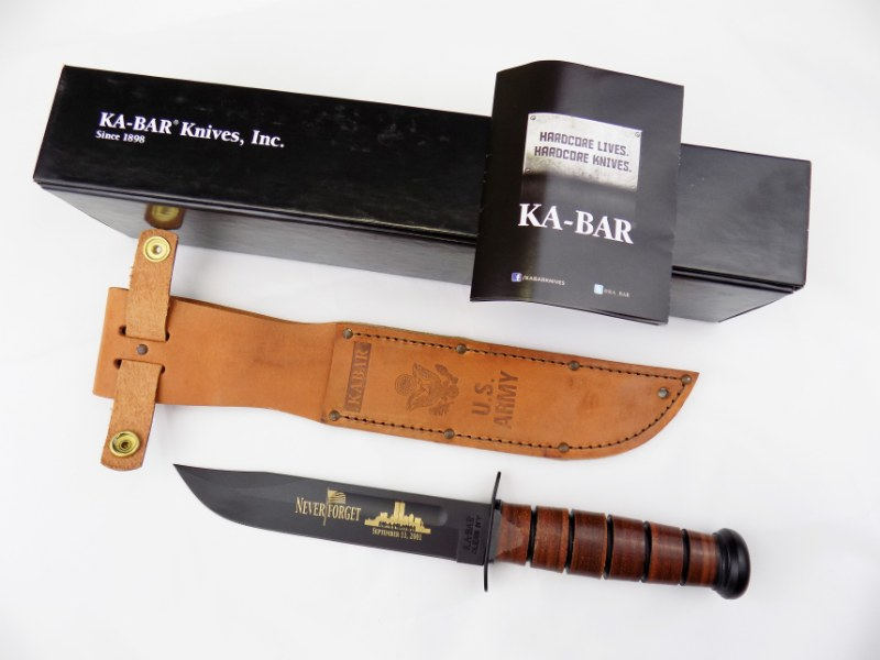 US Army KA-BAR Fighting/Utility Knife 9164 - Edition NEVER FORGET 9/11 USA