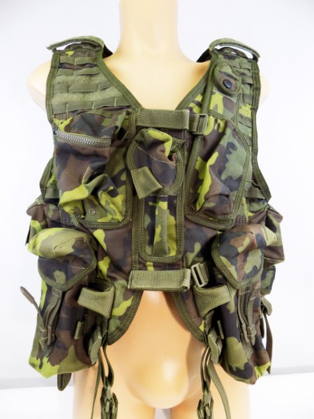 Original Czech Army Tactical Professional Vest MNS-2000 M95 CZ Camo Pattern