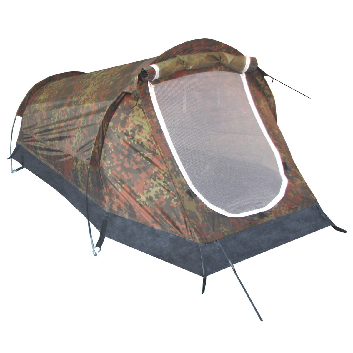"BW German Army Flectarn Camo Tactical Army 1 Men Tunnel Tent ""Schwarzenberg"""