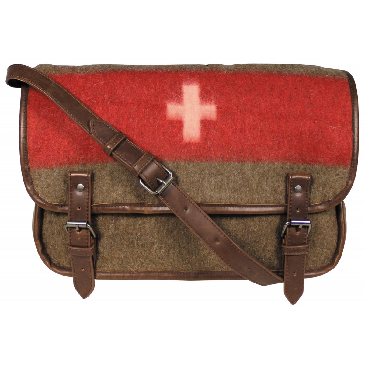 PureTrash® High Grade Vintage Retro WW2 Look Swiss Military Wool Shoulder Bag