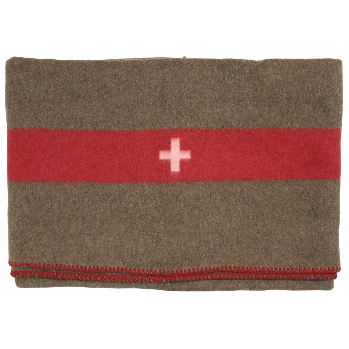 High Quality WW2 Swiss/German Army Wool Military Blanket 200x150cm - Repro