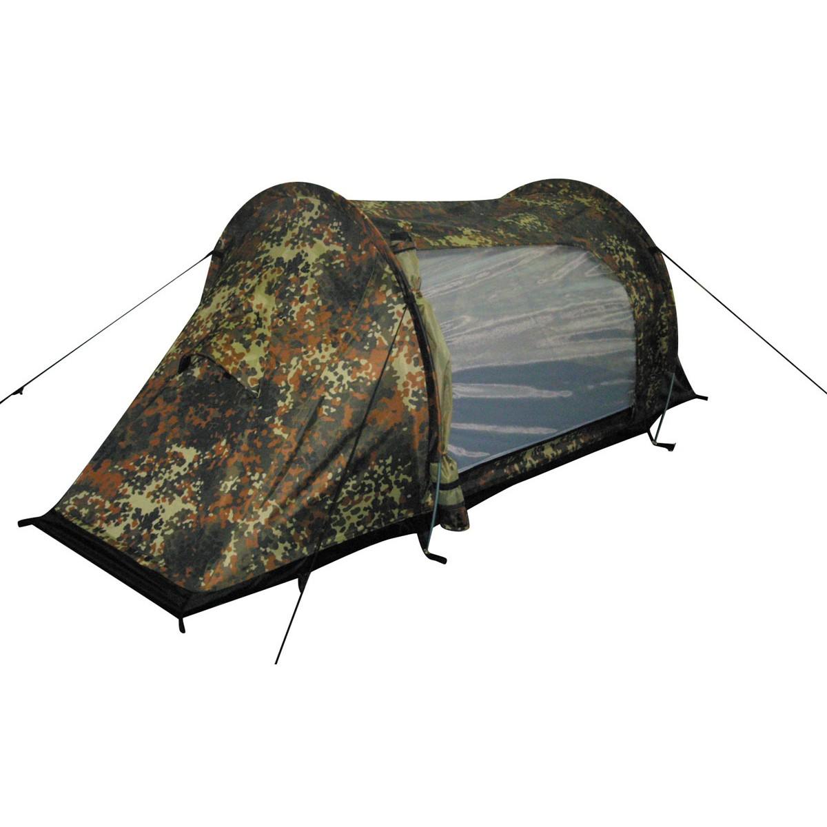 "BW German Army Flectarn Camo Outdoor 1 Man Tent Shelter ""Arber"", Alu Frame"