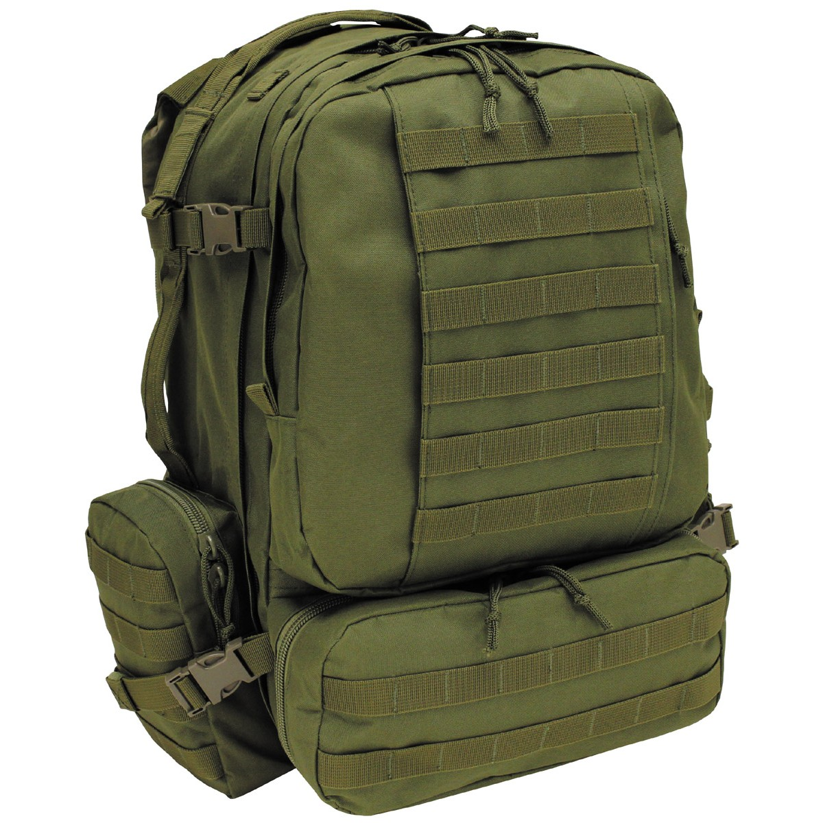 MFH Defense® Military Outdoor Backpack Bag Tactical Modular 46L - OD Green