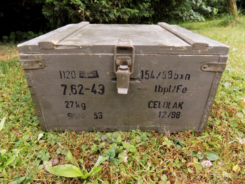 Genuine Czechoslovakia Army Comunist Era Wooden Ammo Box - Nice Condition - Rare