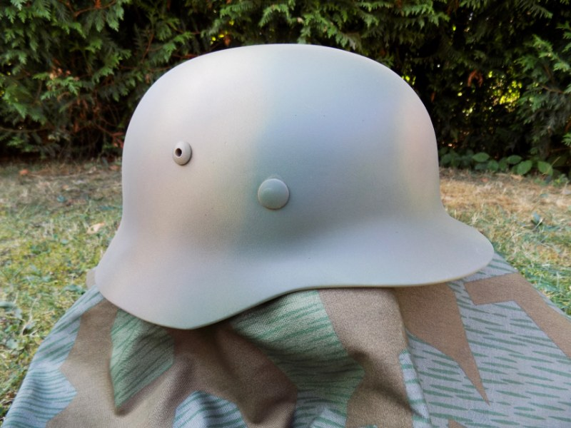 WW2 German Army WH,SS,LW 3 Colours Normandy D-DAY 1944 Camo M35 Helmet - Repro