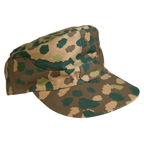 WW2 German Army ELITE M44 Peas Camo Field Cap - Repro - 100% Cotton
