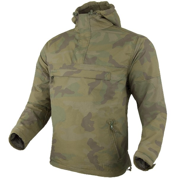 Brandit®Windbreaker Military Tactical Outdoor Hooded Anorak Mens Jacket Woodland