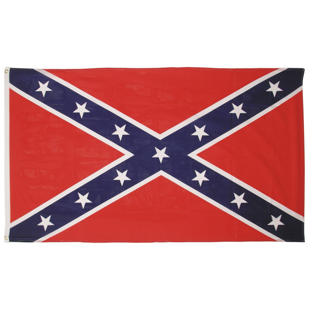 Confederate / South Cross Flag - 90x150cm w/ Reinforcement Band and Metal Hooks