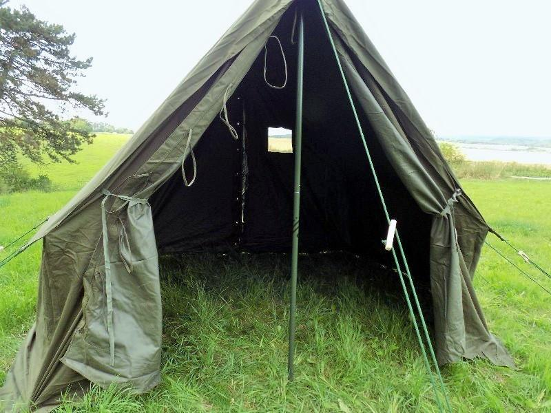 Full Specifications & Tents u0026 Shelters | WW2 US Army Olive Green US Small Tent Wax ...
